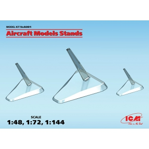 Different sizes aircraft models stands