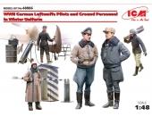 Пилоты и наземный персонал ВВС Германии в зимней униформе (1939-1945)