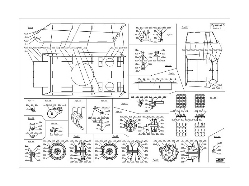 Pzkpfw V Panther Ausf G Paper Model Freetime Online Store