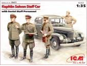 Opel Kapitan седан с советским штабным персоналом