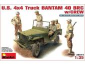 Американский джип Bantam 40 BRC с экипажем