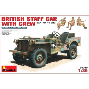 Британский командирский автомобиль Bantam 40 BRC с экипажем