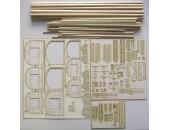 Заготовки для мачт и рей для HMS Enterprize + детали вырезанные лазером