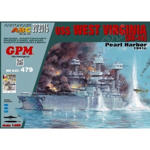 USS West Virginia — paper model | FreeTime Online Store