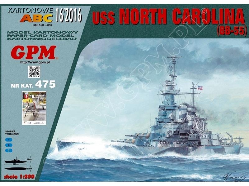 USS North Carolina — paper model   FreeTime Online Store