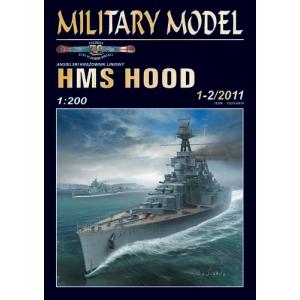 HMS Hood + лазерная резка + стволы + фототравление