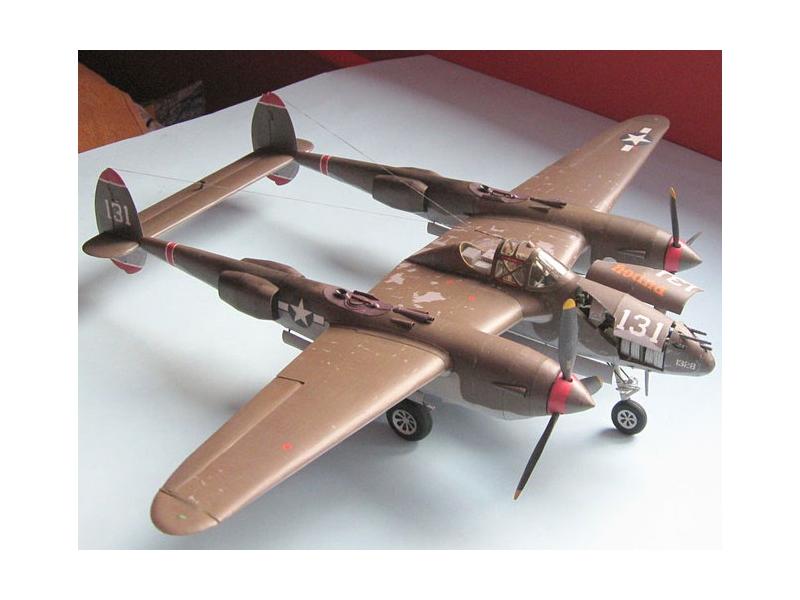 Lockheed P-38H Lightning — paper model | FreeTime Online Store