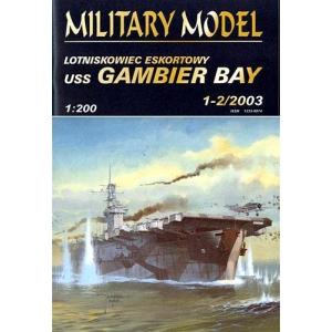 USS Gambier Bay + лазерная резка + стволы