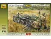 Советский мотоцикл M-72 с 82-мм миномётом