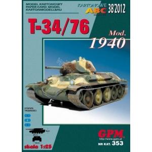 T-34/76 mod. 1940 + laser cut tracks
