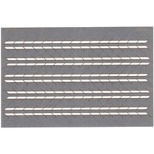 1:200 2-row 45-degree cardboard railings