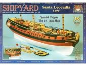 Santa Leocadia + заготовки под мачты и реи + основные и дополнительные паруса