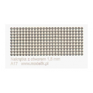 Nuts with hole, 1.5mm (250 pcs.)