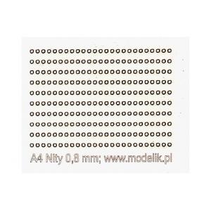 Головки заклепок 0.8мм (250 штук)