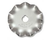 Лезвие WAB45-1 фигурное круглое, большая волна для ножа RTY-2/DX