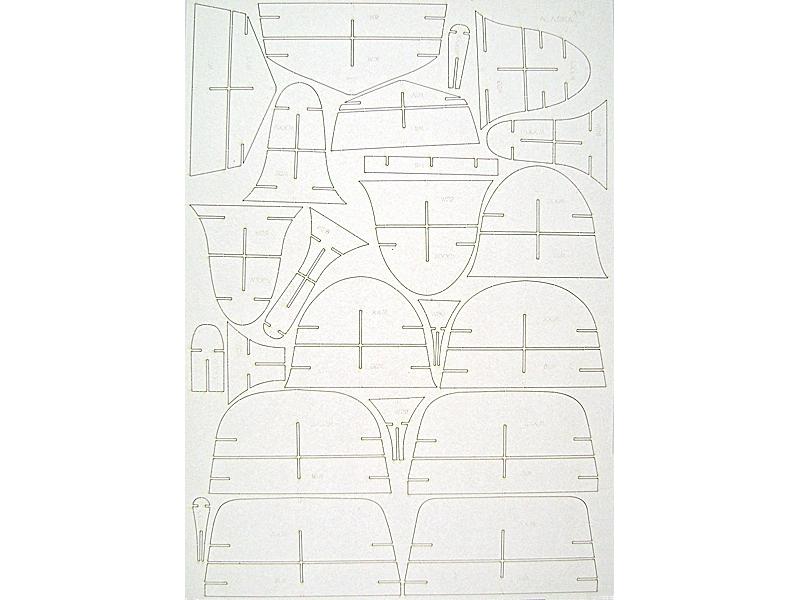 USS Alaska barrels, laser cut frames and small parts — accessory for ...