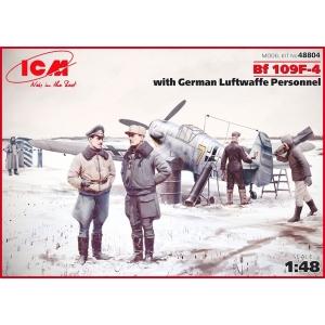 Messerschmitt Bf 109F-4 with German Luftwaffe personel