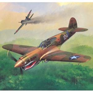 Curtiss P-40E + лазерная резка + остекление кабины + колеса